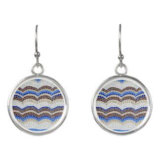Blaue Mosaik-Tropfen-Ohrringe Ohrringe