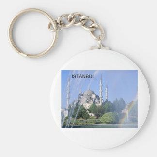 Blaue Moschee der Türkei Istanbul (St.K) Standard Runder Schlüsselanhänger
