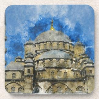 Blaue Moschee in Istanbul die Türkei Getränkeuntersetzer