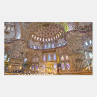 Blaue Moschee in Istanbul die Türkei Rechteckiger Aufkleber