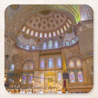 Blaue Moschee in Istanbul die Türkei Rechteckiger Pappuntersetzer