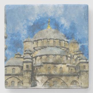 Blaue Moschee in Istanbul die Türkei Steinuntersetzer