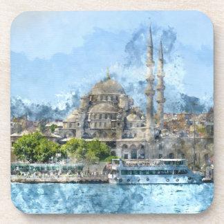 Blaue Moschee in Istanbul die Türkei Untersetzer