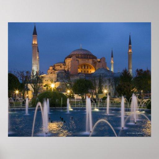 Blaue Moschee, Istanbul, die Türkei Poster