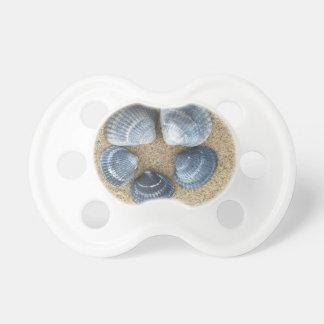 Blaue Muscheln Schnuller