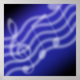 Blaue Musik Poster