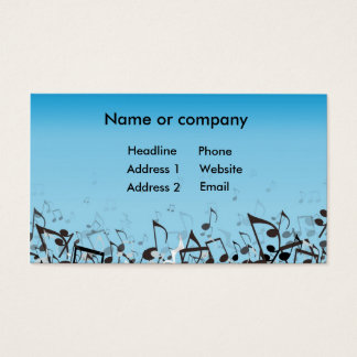 Blaue Musik Visitenkarte