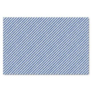 Blaue nautischstreifen, die Kunst malen Seidenpapier