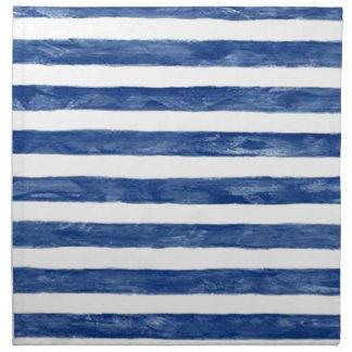 Blaue nautischstreifen, die Kunst malen Stoffserviette