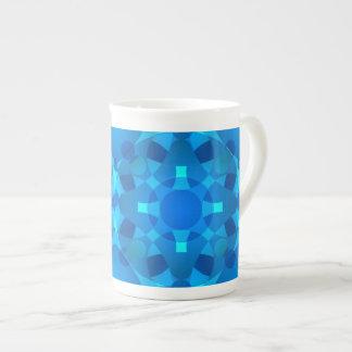 Blaue Neonmosaik-Nagelkunst Porzellantasse