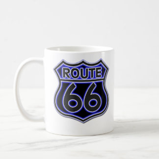 Blaue NeonTasse des weg-66 Kaffeetasse