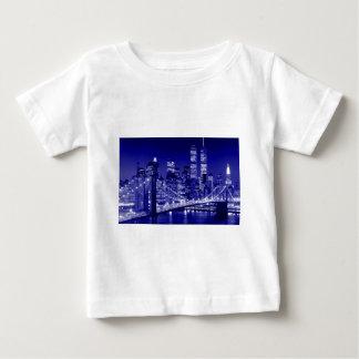 Blaue New- York Citynacht Baby T-shirt