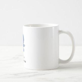 Blaue Ninja Linie Kaffeetasse