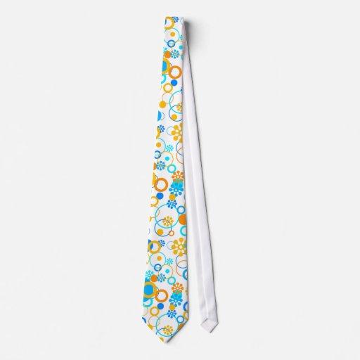 Blaue orange Blumen Individuelle Krawatten