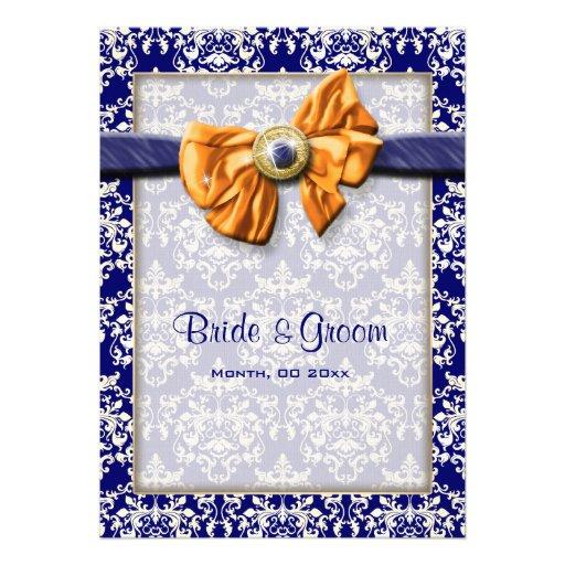 blaue orange hochzeit blumen gewohnheit 12 7 x 17 8 cm. Black Bedroom Furniture Sets. Home Design Ideas