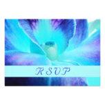 Blaue Orchidee UAWG Karte Individuelle Ankündigungskarte