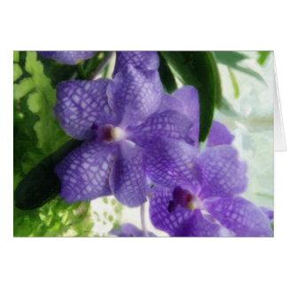 Blaue Orchideen Painterly Karte