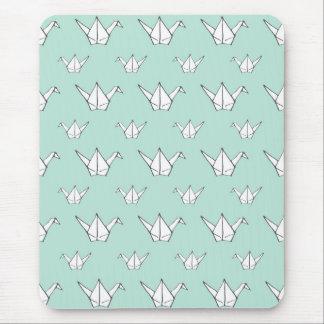 Blaue Origami Kräne Mousepad