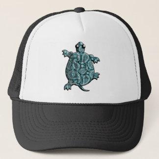 Blaue Paisley-Schildkröten Truckerkappe