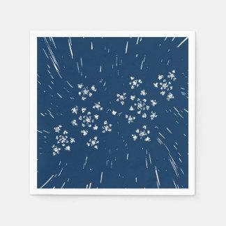 Blaue Papierserviette