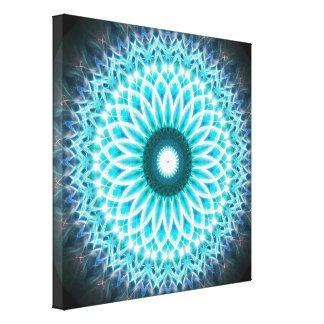 Blaue Paradies-Portal-Mandala Leinwanddruck