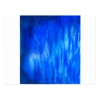 Blaue Pastellflamme (abstrakter Expressionismus) Postkarten