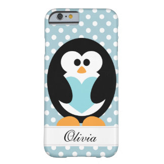 Blaue Penguin-Liebe Barely There iPhone 6 Hülle