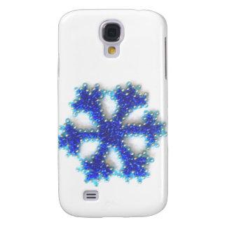 Blaue Perlen-Schneeflocke Galaxy S4 Hülle
