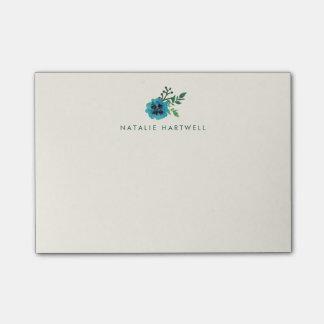 Blaue personalisierte klebrige mit post-it klebezettel