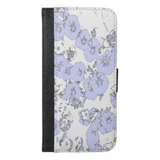 Blaue Petunien iPhone 6/6s Plus Geldbeutel Hülle
