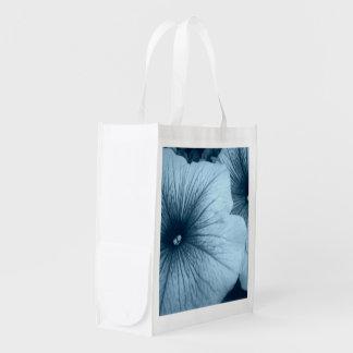 Blaue Petunien Wiederverwendbare Einkaufstaschen