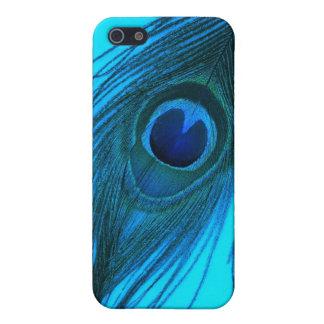Blaue Pfau-Feder iPhone 5 Cover