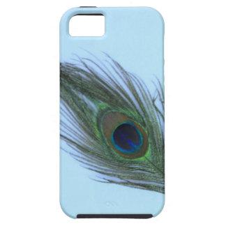 Blaue Pfau-Feder P Etui Fürs iPhone 5