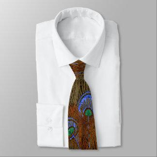 Blaue Pfau-Federn Personalisierte Krawatte