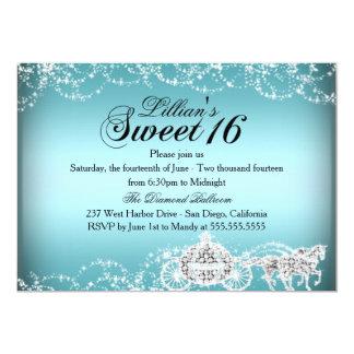 Blaue Pferde-u. Wagen-Prinzessin Sweet 16 laden Karte