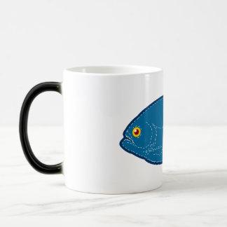 Blaue Piranha-Tasse Verwandlungstasse