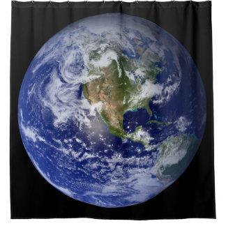 Blaue Planeten-Erde Duschvorhang