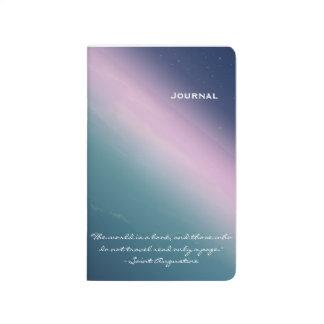 Blaue Planeten-Taschen-Reise-Zeitschrift Taschennotizbuch