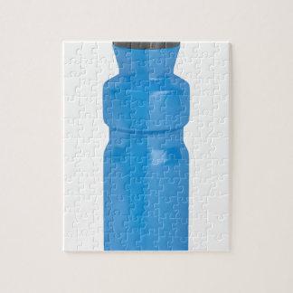 Blaue Plastikflasche Puzzle