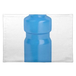 Blaue Plastikflasche Stofftischset