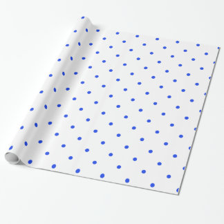 Blaue Punkte klein Geschenkpapier