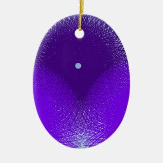 blaue purplelish Blume Keramik Ornament