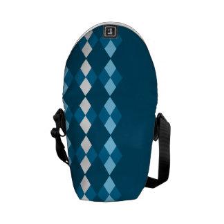 Blaue Raute Kurier Tasche