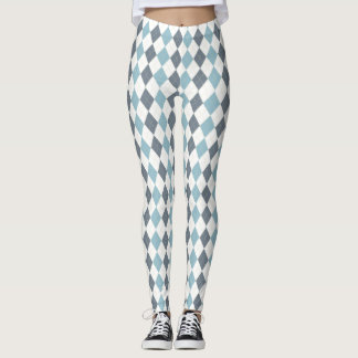 Blaue Raute Leggings