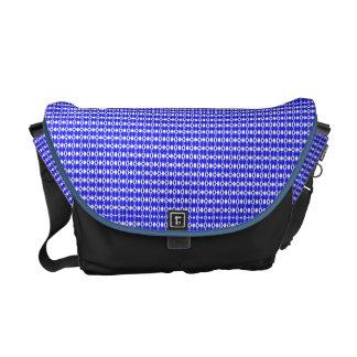 Blaue Rauten-Bote-Tasche Kuriertaschen