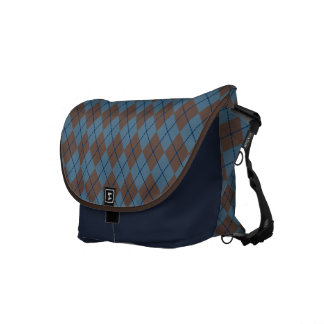 Blaue Rauten-Reise-Bote-Tasche Kurier Tasche
