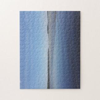 Blaue Reflexionen des Rhossili Puzzle