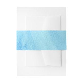 Blaue Regen-Regenwasser-Aquarell-Farbe Einladungsbanderole