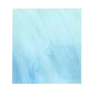 Blaue Regen-Regenwasser-Aquarell-Farbe Notizblock