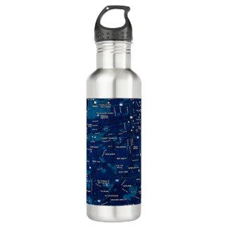 Blaue Reise-MitternachtsTasse - San Francisco Edelstahlflasche